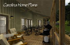 Country craftsman midsize house plan with large screened porch accessible from both dual master suites 3d House Plans, Porch House Plans, Bedroom House Plans, Open Floor, Great Rooms, Master Suite, Craftsman, Floor Plans, Flooring