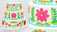 Embroidery Wedding Cake Decorating - CAKE STYLE