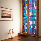 Faux stained glass window film