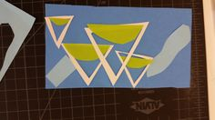 This is a new arrangement of my 3 triangular mountain abstract art piece. Each triangle is cut out of each other, so they could all make a single triange, with a small piece of that larger triangle that it creates missing.