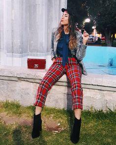 12 Ideas De Looks Con Pantalones A Cuadros Pantalones De Cuadros Pantalones Cuadros