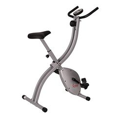 Sunny Health & Fitness SF-B2605 Folding Magnetic Upright Exercise Bike, Grey * Click on the image for additional details.