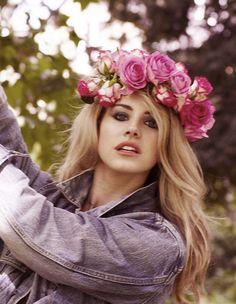 Lana's blonde hair