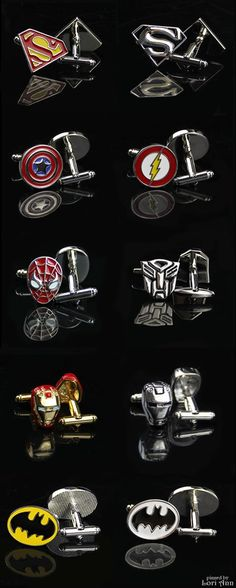 Cufflinks for your super hero!                                                                                                                                                                                 More