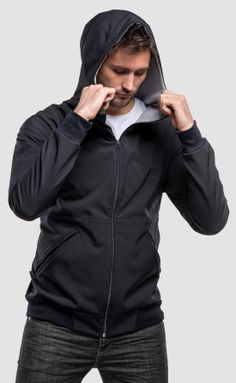 The big brother of the F(estival)-Hoody came straight from the North Pole. The soft shell material combining with unique tailori. Leather Label, Softshell, Hooded Jacket, Concrete, Rain Jacket, Windbreaker, Raincoat, Pullover, Hoodies