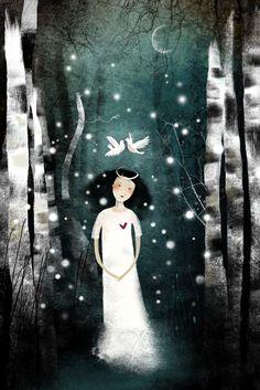 Свет и тьма в картинах Anne-Julie Aubry - Ярмарка Мастеров - ручная работа…