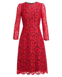 What better way to celebrate the season than in a festive red dress? Use this DOLCE & GABBANA Floral Lace Dress as your inspiration. Lace A Line Dress, Floral Lace Dress, Floral Dresses, Red Fashion, Fashion Outfits, Winter Fashion, Cute Dresses, Beautiful Dresses, Fashion Photography Inspiration