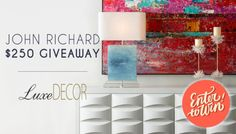 Win a $250 John Richard shopping spree for Furniture Lighting... sweepstakes IFTTT reddit giveaways freebies contests