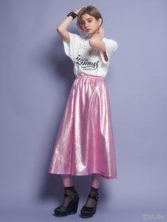 メタリックボリュームスカート(フレアスカート) lilLilly(リルリリー) lilLilly リルリリー公式通販サイト