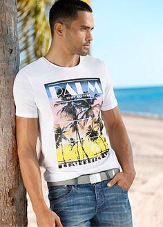 T-Shirt mit Print  - Modisches graues T-Shirt von RAINBOW. Mit dem coolen Aufdruck ist das Shirt ein absoluter Hingucker. - ab 7,99€