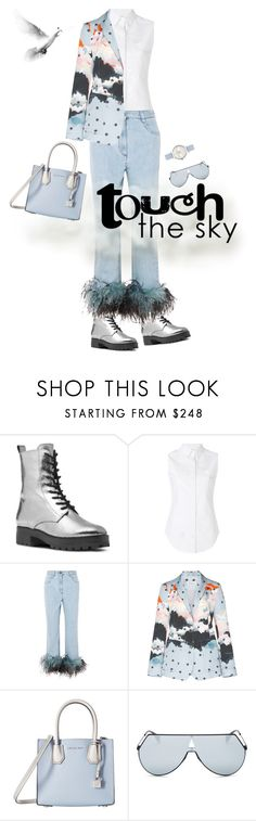 """Touch the sky"" by nisak-tf ❤ liked on Polyvore featuring Michael Kors, Thom Browne, Prada, MICHAEL Michael Kors, Fendi, Olivia Burton, Air, Sky and elements"