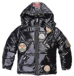 Moncler Kids Jacket Black
