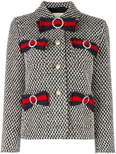 Gucci tweed jacket with bows