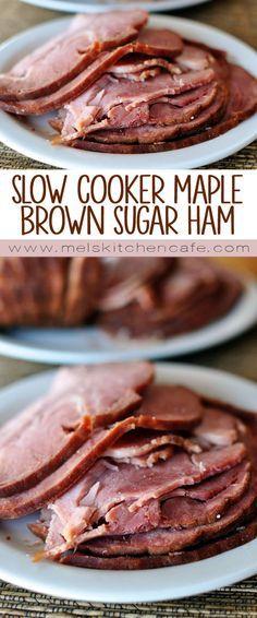 Slow Cooker Maple Brown Sugar Ham. #JenniferW #bestrecipes&drinkscommunity Brunch Recipes, Meat Recipes, Slow Cooker Recipes, Crockpot Recipes, Cooking Recipes, Cooking Ideas, Diner Recipes, Brunch Food, Apple Recipes