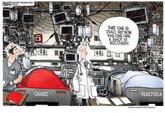 Michael Ramirez Cartoon 03/06/2013 - Hugo Chavez Venezuela Operating Room