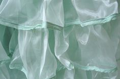 More Minty Green Ruffles Mint Green Dress, Shabby Chic Homes, Green Fashion, Ruffles, My Style, Home Decor, Tulle, Svelte Sage, Decoration Home