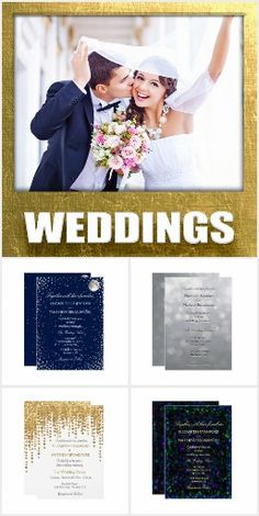 A collection of glam, beautiful and elegant wedding invitations. Glitter Invitations, Elegant Wedding Invitations, Invites, Beautiful, Collection