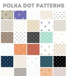 50 Repeating Polka Dot Patterns @creativework247