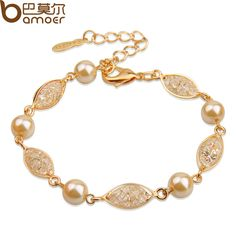 Find More Strand Bracelets Information about Drop Shipping Luxury Pearl Bracelet For Women Champagne Gold Plated Cubic Zirconia High Quality Bamoer Jewelry JSB020,High Quality bracelet thread,China bracelet accessories Suppliers, Cheap bracelet letter from Bamoer Jewelry--Famous Brand in China on Aliexpress.com