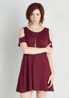 Chics for Itself Dress in Burgundy From the Plus Size Fashion Community at www.VintageandCurvy.com