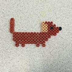 Dachshund Hama beads