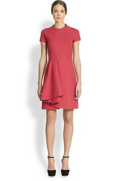 Valentino Ruffle Front Dress