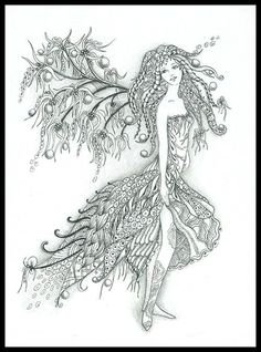 fairy flutters fairy tangles gray scale images printable coloring sheets by norma j burnell coloring pages adult coloring digital coloring tangled