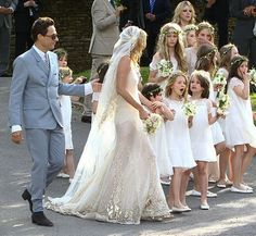 Kate Moss Wedding - this dress is amazing!  #Weddings #Kate Moss