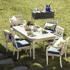 Ceylon Whitewash 7-Piece Rectangular Dining Set