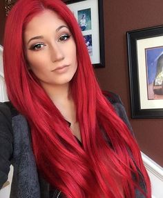 Red Wigs Lace Frontal Wigs Ombre Bob Wig Pastel Pink Wig With Bangs Da – shaddocktal Red Brown Hair, Bright Red Hair, Red Hair Color, Hair Colors, Reddish Brown, White Hair, Dark Red, Color Red, Lace Front Wigs