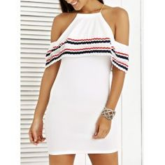 SHARE & Get it FREE | Stylish Cami Stripe Spliced Flounce Ruffles Cold Shoulder Women's DressFor Fashion Lovers only:80,000+ Items • FREE SHIPPING Join Nastydress: Get YOUR $50 NOW!