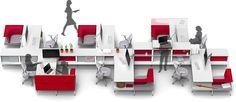 """En la reciente feria de mobiliario para oficina en Chicago NeoCon, la Herman Miller introdujo su nueva visión para los espacios de trabajo; la """"living office"""". En colaboración con 3 reconocidos despachos, todos previos colaboradores de la empresa americana, HM pretende responder a los cambios en la cultura empresarial por medio del diseño de espacios de trabajo."""