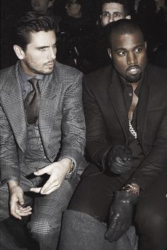 Scott Disick and Kanye West. Cool to see them hanging out. #men #fashion #kardashian