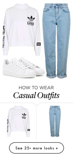 """""""Comfy Casual"""" by nyah-king on Polyvore featuring adidas and Topshop"""