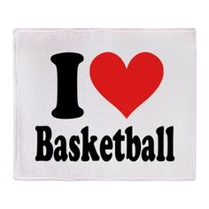 I Heart Basketball Throw Blanket