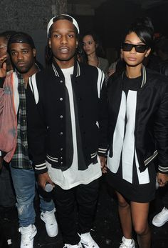 7x THE BEST FASHION COUPLES ~ ILOVEFASHIONDAILY: FASHION·CREATIVE MINDS·TEENS asap rocky chanel iman