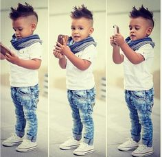 I fell in love with this little boy style