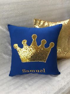 Personalized Crown Decor pillow Girl Pillow Boy Pillow Nursery Pillow Crafts, Diy Pillows, Handmade Pillows, Decorative Pillows, Throw Pillows, Eyelash Pillow, Toddler Sleeping Bag, Crown Decor, Cushion Embroidery