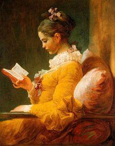Cross stitch pattern - The reader by Fragonard.