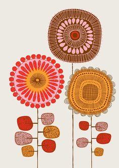 Poster fiori No2 edizione limitata stampa giclee di EloiseRenouf