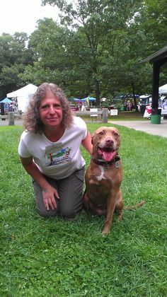Meeting Lilly the Hero Pit Bull at Kane's Cookout 8/17/14