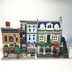 #Lego #legoart #legogram #legostagram #legomania #legocreator #legomoc #legophotography #legoarchitecture #architecture #afol #10246 #10243 by jenhungchen