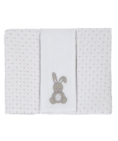 Mothercare Muslin Cloths - 3 Pack. A useful gift featuring sweet embroidery.