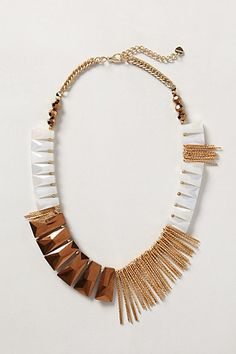 Anthro Fringe Necklace