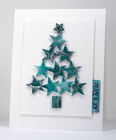 Read information on Handmade Christmas Card Ideas Christmas Card Crafts, Homemade Christmas Cards, Christmas Cards To Make, Homemade Cards, Handmade Christmas, Holiday Cards, Christmas Decorations, Christmas Stars, Christmas Holiday