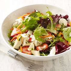 Chicken, Strawberry and Goat Cheese Salad with Tarragon Vinaigrette | Recipes | Weight Watchers