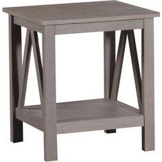 $70 Linon Titian End Table, Rustic Gray - Walmart.com