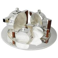 Incredible Art Deco Inspired Sterling Silver Coffee and Tea Service