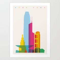 Shapes of Hong Kong Art Print by Yoni Alter - $20.00