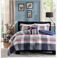 Intelligent-Design-Harper-Plaid-5-piece-Twin-XL-Size-Bedding-Comforter-Set-New
